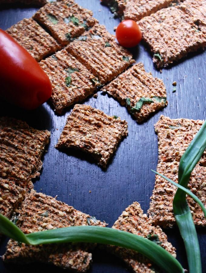 Les crackers sarrasin oignon vert