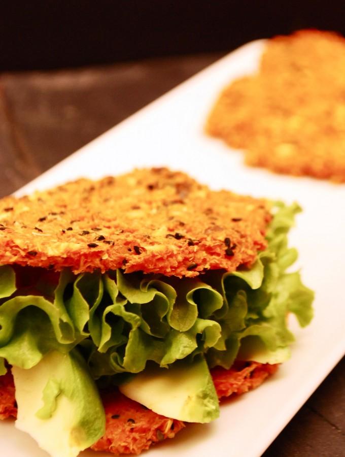 Les sandwiches au pain de carotte